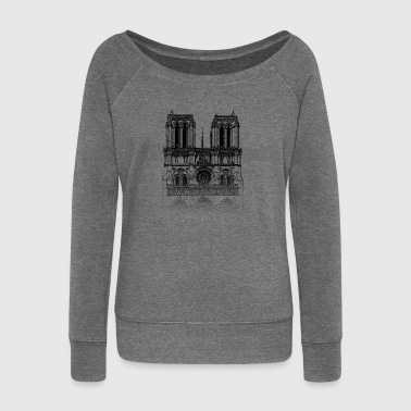 Notre Dame Around The World: Notre Dame - Paris - Women's Boat Neck Long Sleeve Top