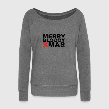 Merry Christmas christmas - Women's Boat Neck Long Sleeve Top