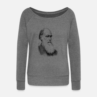 Charles Darwin - Women's Wide-Neck Sweatshirt