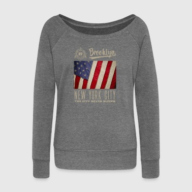 New York City · Brooklyn - Women's Boat Neck Long Sleeve Top