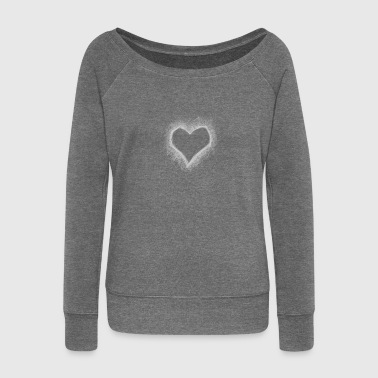 scratchedheart - Women's Boat Neck Long Sleeve Top