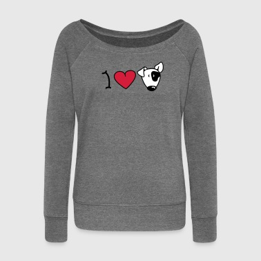 I love dogs - Women's Boat Neck Long Sleeve Top