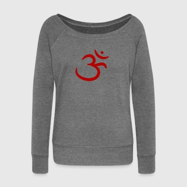 Om - Women's Boat Neck Long Sleeve Top