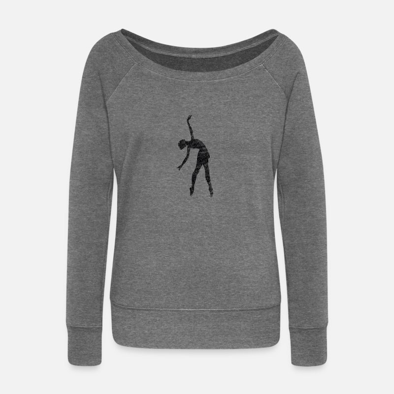 Ballet Long sleeve shirts - Ballet dancer - Women's Wide-Neck Sweatshirt dark grey heather