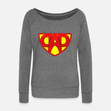 Super Dad Super DAD - Women's Boat Neck Long Sleeve Top