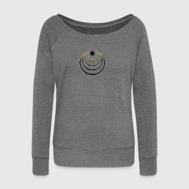 Moon amulet  - intuition, creativity and media skills, digital, protection symbol - Women's Boat Neck Long Sleeve Top