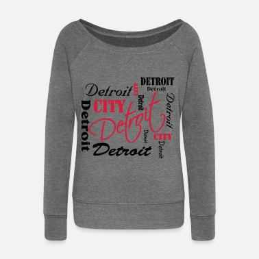 Detroit Detroit - Women's Boat Neck Long Sleeve Top