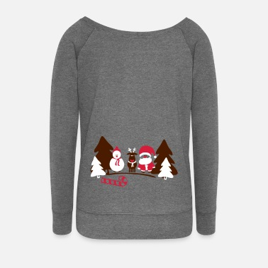 Christmas christmas crew - Women's Boat Neck Long Sleeve Top