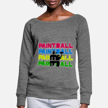 Paintball Paintball Paintball Paintball Paintball - Vrouwen U-hals longsleeve