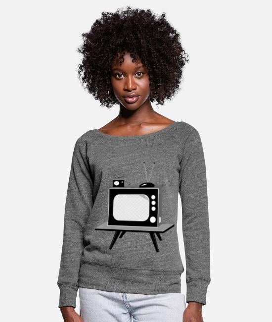 Series Long sleeve shirts - TV - Women's Wide-Neck Sweatshirt dark grey heather