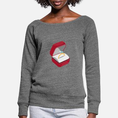 Engagement Engagement ring engagement - Women's Wide-Neck Sweatshirt
