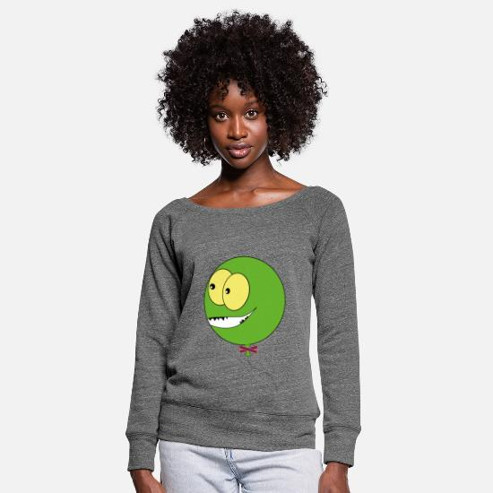 Gift Idea Long sleeve shirts - Funny Balloon Gift idea - Women's Wide-Neck Sweatshirt dark grey heather