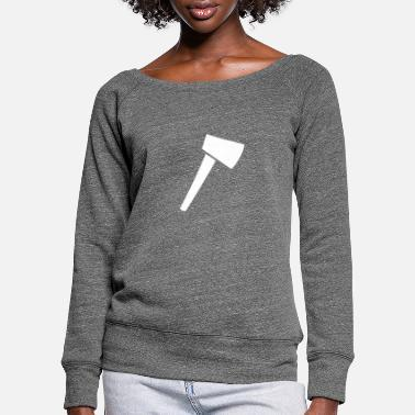 Firefighter Axe - Women's Wide-Neck Sweatshirt