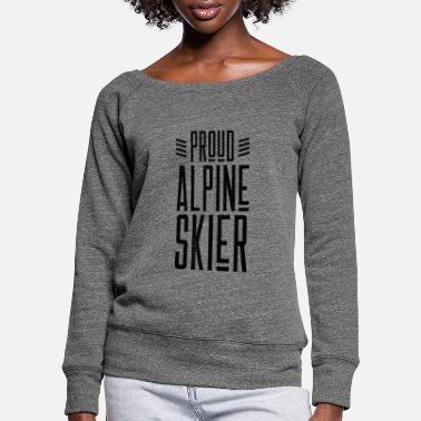 Alpine Skiing Alpine Skiing Skiing Skiing Skiing Alpine Skiing - Women's Wide-Neck Sweatshirt