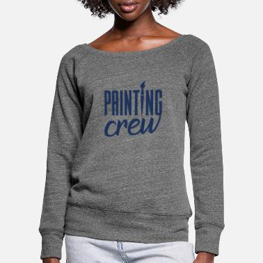Painter Apprentice Painter painting painter painter training - Women's Wide-Neck Sweatshirt
