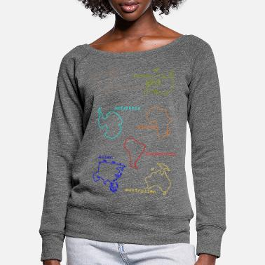 Continent Continents - Women's Wide-Neck Sweatshirt