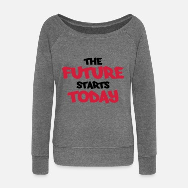 Today The future starts today - Pull col bateau Femme