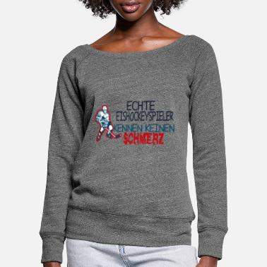 Adrenaline ice Hockey - Women's Wide-Neck Sweatshirt