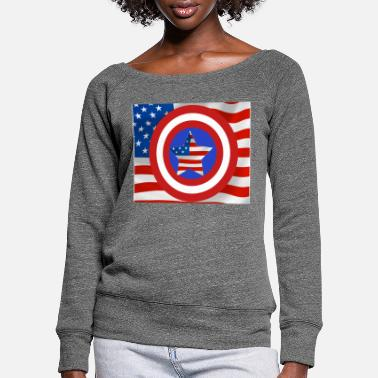 America Made in USA , America Hero fun design - Frauen Pullover mit U-Ausschnitt