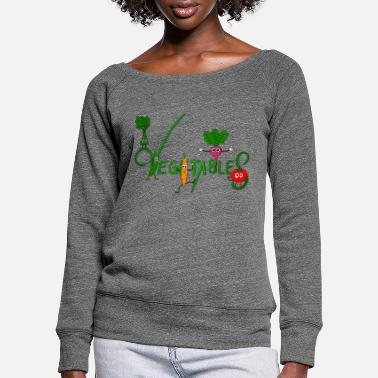 Vegetables Vegetables - vegetables - Women's Wide-Neck Sweatshirt