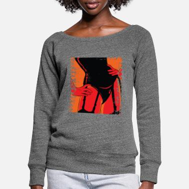Mänlich Girlfriend - Women's Wide-Neck Sweatshirt