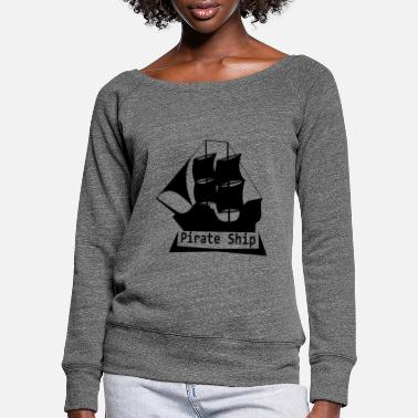Pirate Bateau pirate capitaine pirate - Pull col bateau Femme