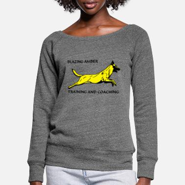 Hond Hond Blazing AmberTraining - Women's Wide-Neck Sweatshirt