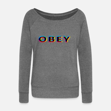 Anaglyph Obey Anaglyphic - Women's Wide-Neck Sweatshirt
