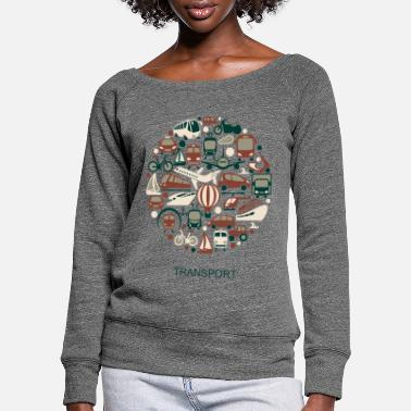 Transport transport - Women's Wide-Neck Sweatshirt