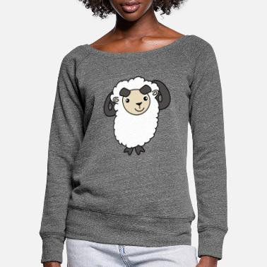 Mutton Little sweet mutton - Women's Wide-Neck Sweatshirt