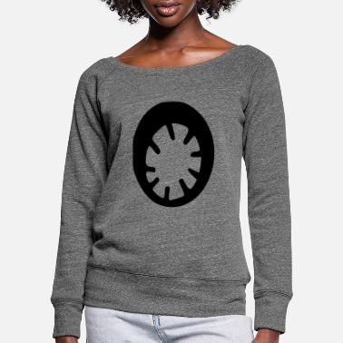 Wheel wheel - Women's Wide-Neck Sweatshirt