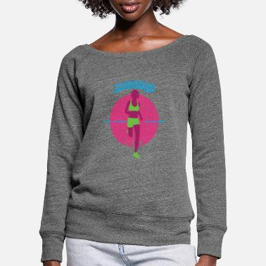 Joie De Vivre Running Jogging Joie de vivre Sports - Women's Wide-Neck Sweatshirt
