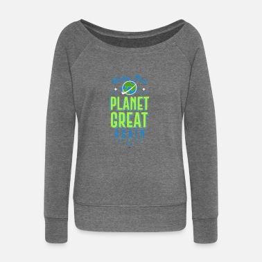 Planet THERE IS NO PLANET B UMWELTSCHUTZ EISBÄR NORDPOL - Sweatshirt med ubåds-udskæring dame