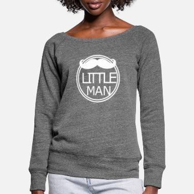 Little Man Little Man Little man - Felpa con scollo a barca donna