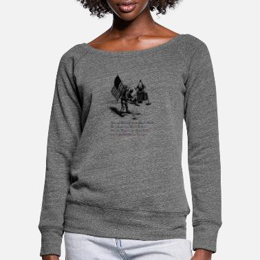 moon - Women's Wide-Neck Sweatshirt