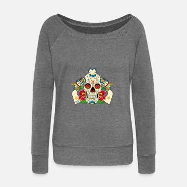 Caterina The guns of Catarina Calavera - Women's Wide-Neck Sweatshirt