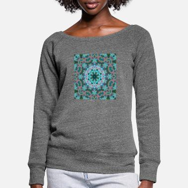 Abstract KALEIDOSCOPE ABSTRACT LILIES 2 FLOWERS 2 - Frauen Pullover mit U-Ausschnitt