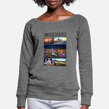 State United States - United States - Women's Wide-Neck Sweatshirt