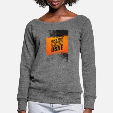 training shirt - Women's Wide-Neck Sweatshirt
