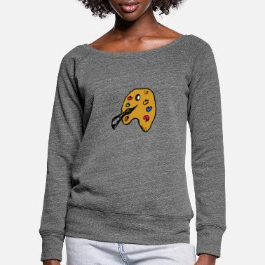 Painter painter - Women's Wide-Neck Sweatshirt