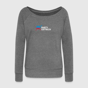Political Party Animals: Ostrich - Women's Boat Neck Long Sleeve Top