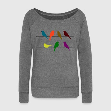 Swallow birds - Women's Boat Neck Long Sleeve Top