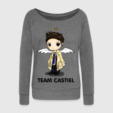 Team Castiel (light) - Women's Boat Neck Long Sleeve Top