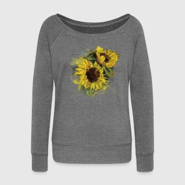sunflower - Women's Boat Neck Long Sleeve Top