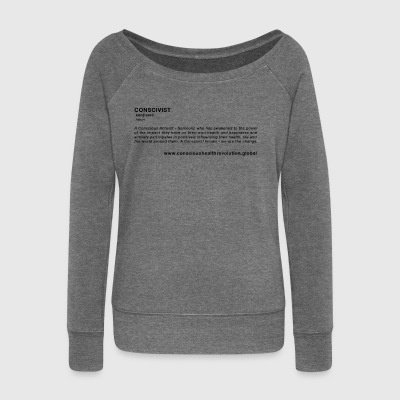 Conscivist Definition - Women's Boat Neck Long Sleeve Top