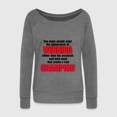 TRUE CHAMPION - Women's Boat Neck Long Sleeve Top