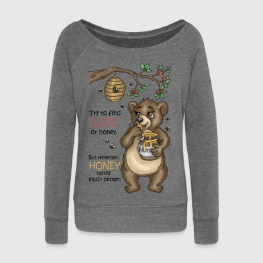 Brown bear Uncle Simson Version 3 - Women's Boat Neck Long Sleeve Top