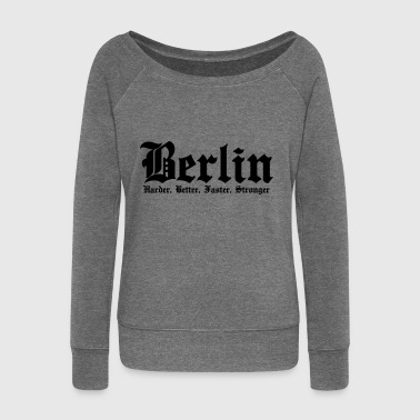 Berlin Harder Better Faster Stronger - Women's Boat Neck Long Sleeve Top