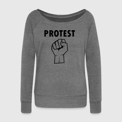 Protest2 - Women's Boat Neck Long Sleeve Top