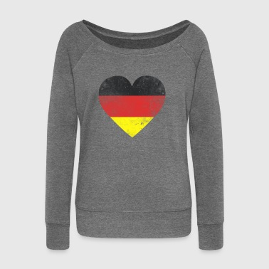 Gift Germany flag german flag german - Women's Boat Neck Long Sleeve Top